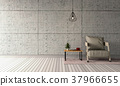3D rendering of interior modern living room  37966655