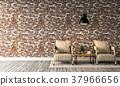 3D rendering of interior modern living room  37966656