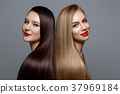 beautiful girls with healthy hair 37969184