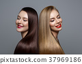 beautiful girls with healthy hair 37969186