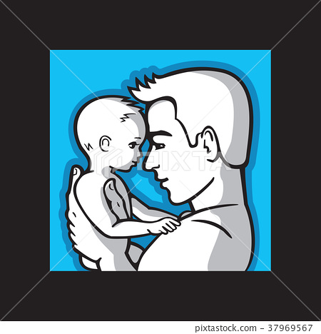 Happy father and small child together. 37969567