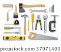 Set of tools isolated on white background 37971403