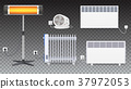 Electric oil radiator, heater with fan, panel of 37972053