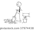 businessman, digging, plant 37974438