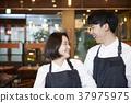 餐厅,服务员,女服务员,职业,韩国人 37975975