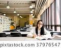 도서관, 학생, 공부 37976547