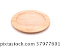 New empty wooden bowl. Studio shot isolated on white background 37977691