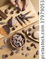 코코아와 초콜릿과 여성 수중 37979053