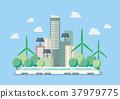 Eco city vector illustration 37979775