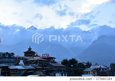 India's Recompio and Kinaul Valley Mountains and Temples in Karpa Village 37980184