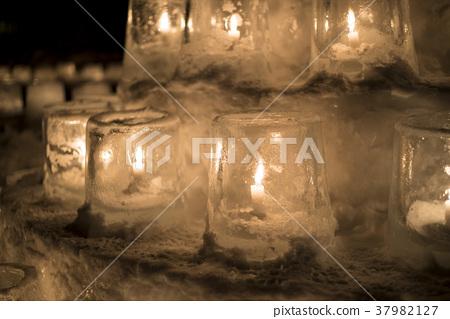 定山溪 雪蜡烛 火 37982127