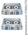 盒式磁带 图表 后面 37983173