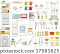 一套 廚房用品 矢量 37983625