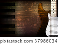background electric guitar 37986034