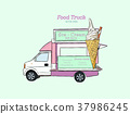 ice cream truck 37986245