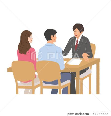企业谈话商人例证 37986622