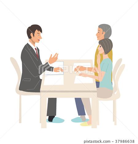 企業談話商人例證 37986638