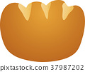 矢量 奶油面包 面包 37987202