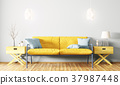 Interior of living room with sofa 3d rendering 37987448