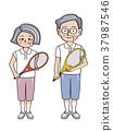 senior, tennis, sport 37987546