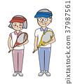 senior, tennis, sport 37987561