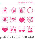 love, heart, icon 37989440