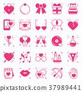 love, heart, icon 37989441