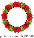 flower, round, frame 37990600