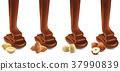 chocolate design with peanut, hazelnut, pistachio, 37990839