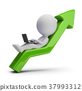 3d small people - successful business 37993312