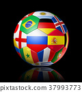 Russia 2018. Football soccer ball with flags 37993773