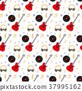 vector, headphones, guitar 37995162