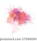 woman colorful portrait 37996094