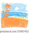 Nature tropical sea background with palm island 37997452