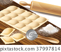 Process of making ravioli vector illustration 37997814