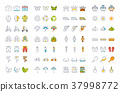 icon, camping, set 37998772