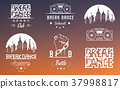 Vector Set of Badges, Logos and Sign Break Dance 37998817