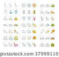 icon, set, vector 37999110