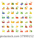 Set Vector Flat Icons of Juice 37999152