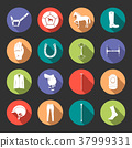 Vector set of icons and sign of polo 37999331