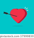 heart, arrow, vector 37999830