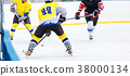 Ice hockey game on rink 38000134