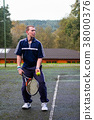 Male playing Tennis 38000376