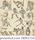 Sporting Events, Sport Mix - Hand drawn collection 38001724