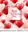 Valentine s day abstract background with red 3d 38001770