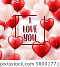 Valentine s day abstract background with red 3d 38001771