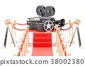 Movie Presentation concept. 3D rendering 38002380