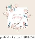 hello spring card 38004054