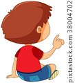boy, back, pointing 38004702