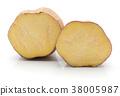 Fresh raw sweet potato isolated on white 38005987
